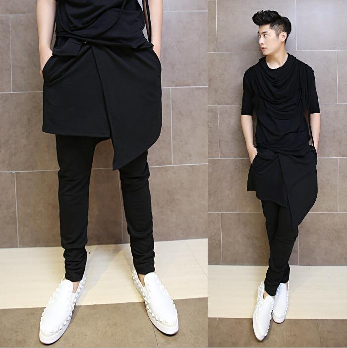 Korean-Hip-Hop-Fashion-Dance-Pants-For-font-b-Men-b-font-Black-Drop-Crotch-font