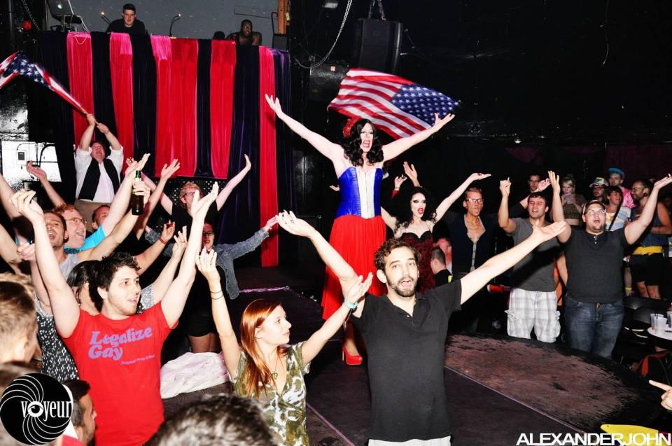 Dinah Sore performs at Drag Wars at Voyeur Nightclub. Alexander John Photography
